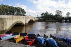 Kayak for hire Stock Photos