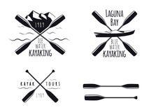 Kayak Icons Stock Photos