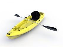 Kayak jaune Photo stock