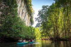 Kayak in krabi 2 Fotografia Stock Libera da Diritti