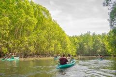 Kayak in krabi 4 Fotografie Stock Libere da Diritti
