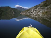 Kayak. On lake Stock Image