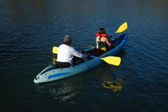 Kayak on the Lake Stock Photos