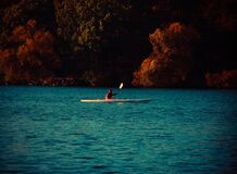 Kayak on the lake Royalty Free Stock Photo