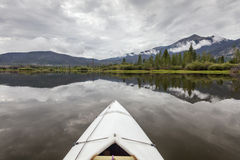 Kayak on Lake Dillon Stock Photography