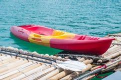 Kayak on the lake. Kayaks on the lake in Ratchaprapha Dam, Khao Sok National Park, Suratthani, Thailand Stock Photo