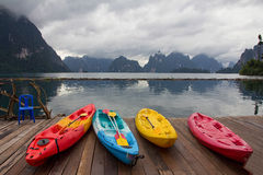 Kayak Lake Royalty Free Stock Photos