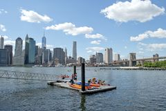 Kayak Launch New York City Stock Images