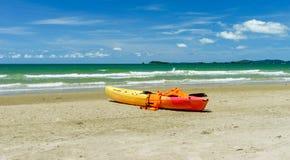 Kayak with life jacket Royalty Free Stock Photos