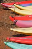 Kayak Lineup Royalty Free Stock Images