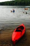 Kayak on the Lkeshore Stock Photo