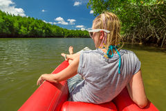 Kayak in mangrove forests Stock Photo
