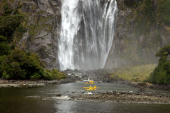 Kayak Milford Sound Royalty Free Stock Photography