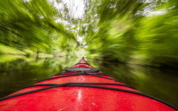 Kayak In Motion Royalty Free Stock Images