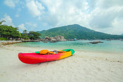Kayak on Nangyuan island,Thailand Royalty Free Stock Photos