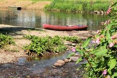 Kayak near the river Semois, Belgian Ardennes Stock Images
