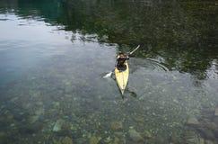 Kayak nella Patagonia immagini stock libere da diritti