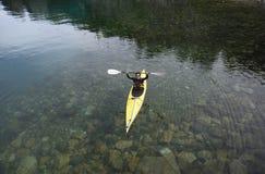 Kayak nella Patagonia immagini stock