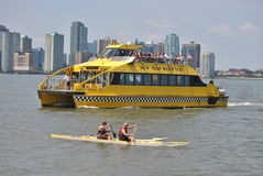 Kayak, and new york water taxi Royalty Free Stock Image