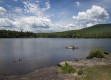 Kayak on North Lake, Catskill Mountains royalty free stock photography