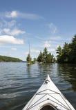 Kayak on Northern Lake Stock Photos