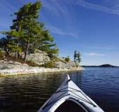Kayak on Charleston Lake Royalty Free Stock Photo