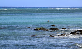 Kayak on the Ocean Royalty Free Stock Image
