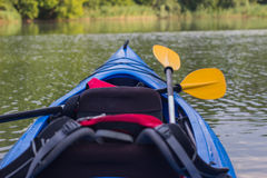 Kayak in open water. Stock Image