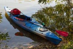 Kayak in open water. Stock Photos