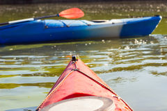 Kayak in open water. Royalty Free Stock Images