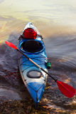 Kayak in open water. Royalty Free Stock Image