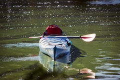 Kayak in open water. Royalty Free Stock Photo