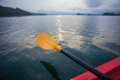 Kayak paddle. On the ocean Royalty Free Stock Photography