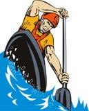 Kayak paddler Stock Photography