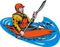 Kayak paddler Royalty Free Stock Photos