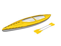 Kayak and paddles Stock Photo
