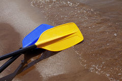 Kayak Paddles Royalty Free Stock Photography