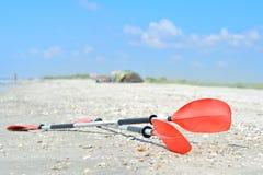 Kayak Paddles Stock Images