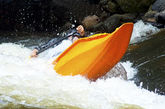 Kayak in paddling competition. Stock Image