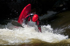 Kayak in paddling competition. Stock Photo