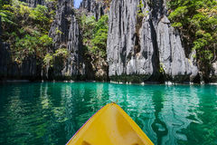 Kayak in Palawan Royalty Free Stock Photo