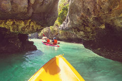 Kayak in Palawan Stock Photo