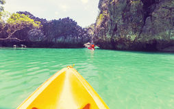 Kayak in Palawan Royalty Free Stock Photos