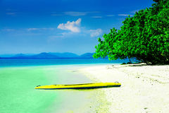Kayak in paradise Royalty Free Stock Photo