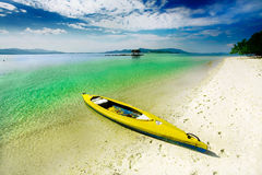Kayak in paradise Royalty Free Stock Photos