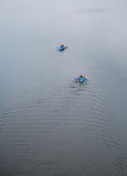 Kayak. People kayaking on Dnipro river. Kiev, Ukraine. Royalty Free Stock Image