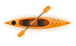 Kayak from plastic for fishing and tourism vector illustration Royalty Free Stock Photos