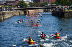 Kayak polo. Water sport in albert dock Stock Image