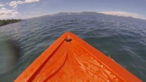 Kayak POV Adventure on the Lake stock video