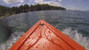 Kayak POV Adventure Land Ahoy stock footage